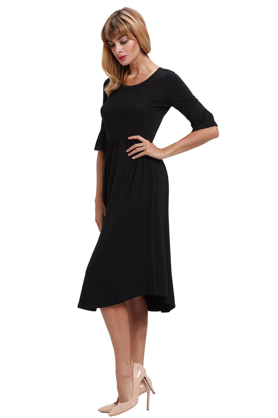 formal dresses dressesdressmidi dressruffle sleeve