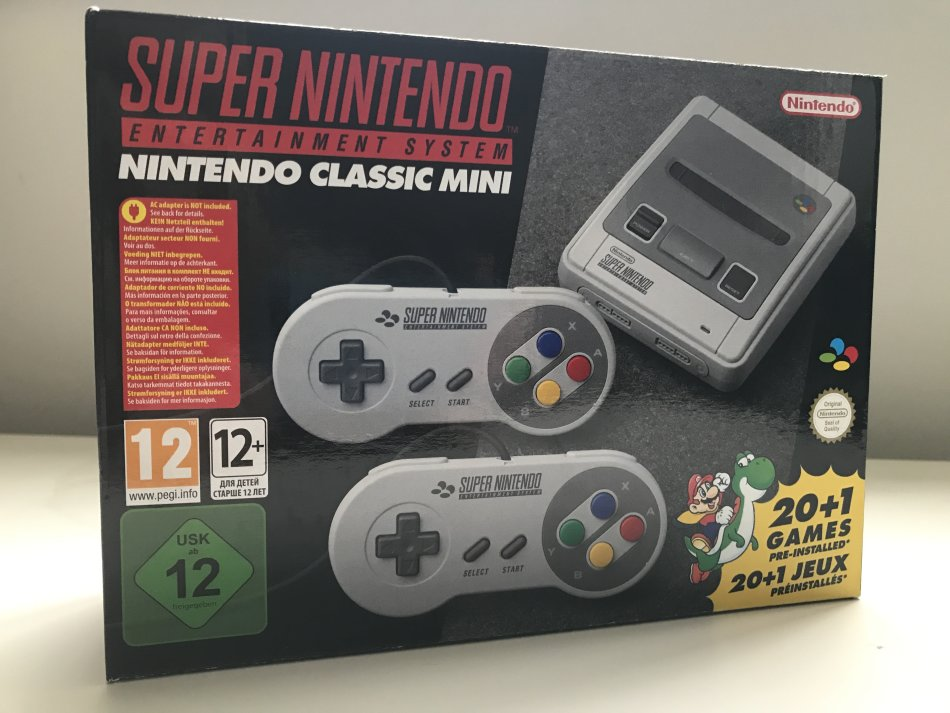 consoles nintendo classic mini super nintendo entertainment system snes console brand new. Black Bedroom Furniture Sets. Home Design Ideas