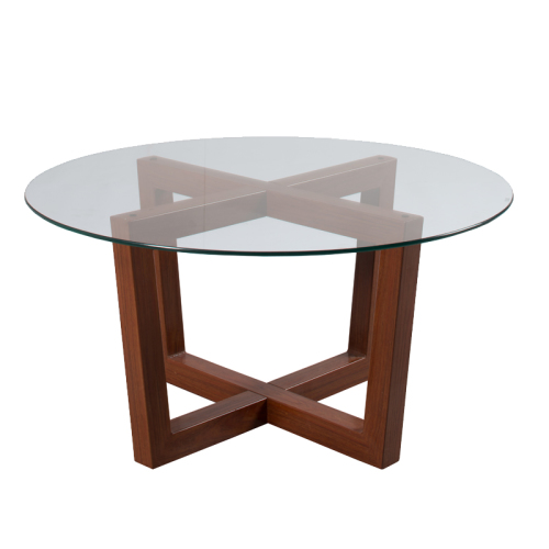 MAYA ROUND GLASS TOP COFFEE TABLE Was Listed For