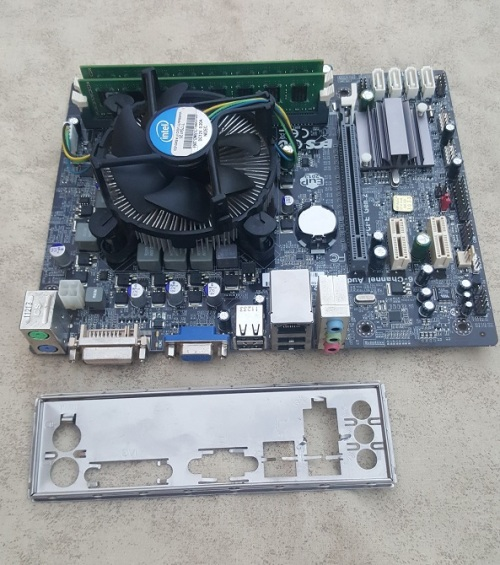 ECS H61H2-M2 Motherboard Combo + Intel Core i3-2100 (3 10 GHz) + 4 Gig DDR  3 Ram - Awesome Price