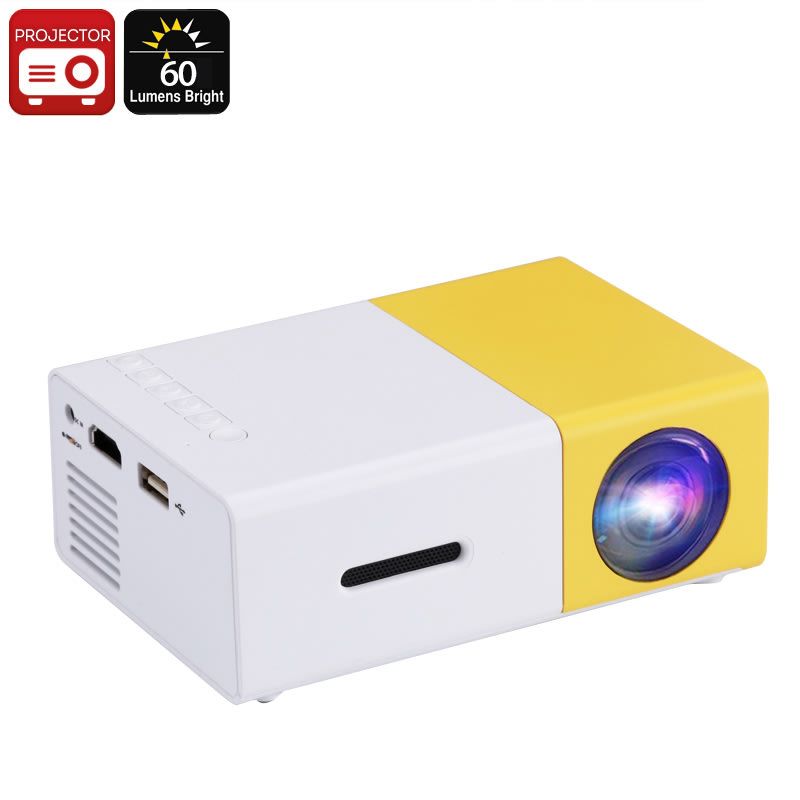 Projectors mini led projector 60 lumen manual focus for Used pocket projector