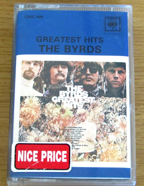 Classic Rock The Byrds Greatest Hits 1979 Rsa Cassette