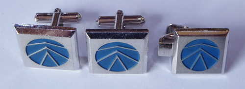 Set of Sanyo cufflinks and tie pin - Vintage
