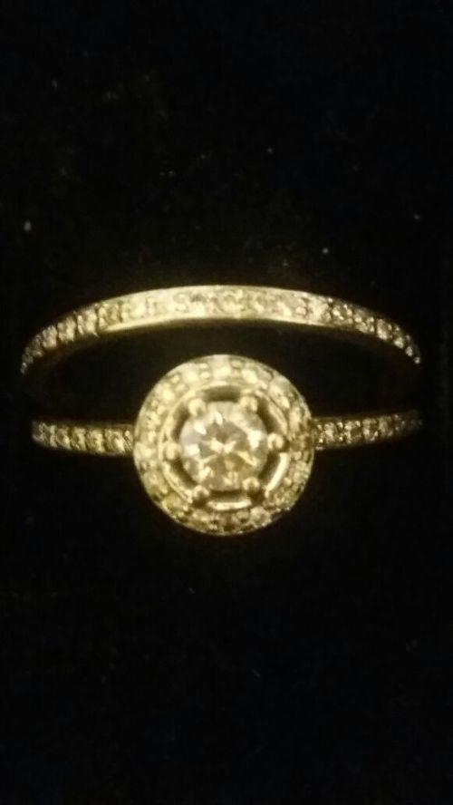 Wedding Rings 14ct White Gold Diamond Wedding Ring Set Reduced price Urg