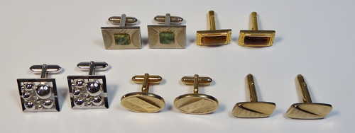 Lot of 5 pairs of cufflinks - All vintage