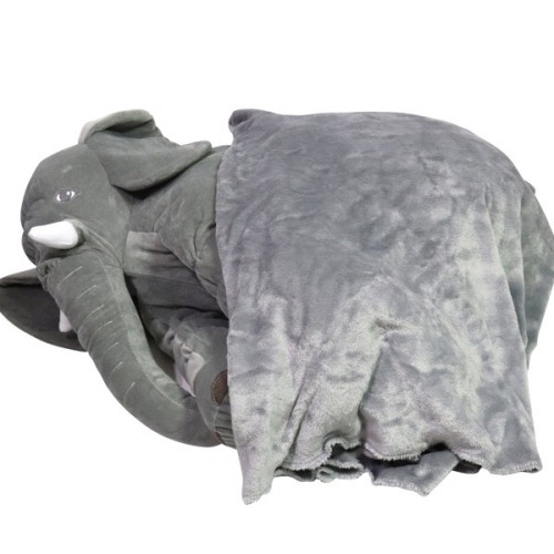 Soft Toys Stuffed Elephant Plush Pillow With Blanket Was