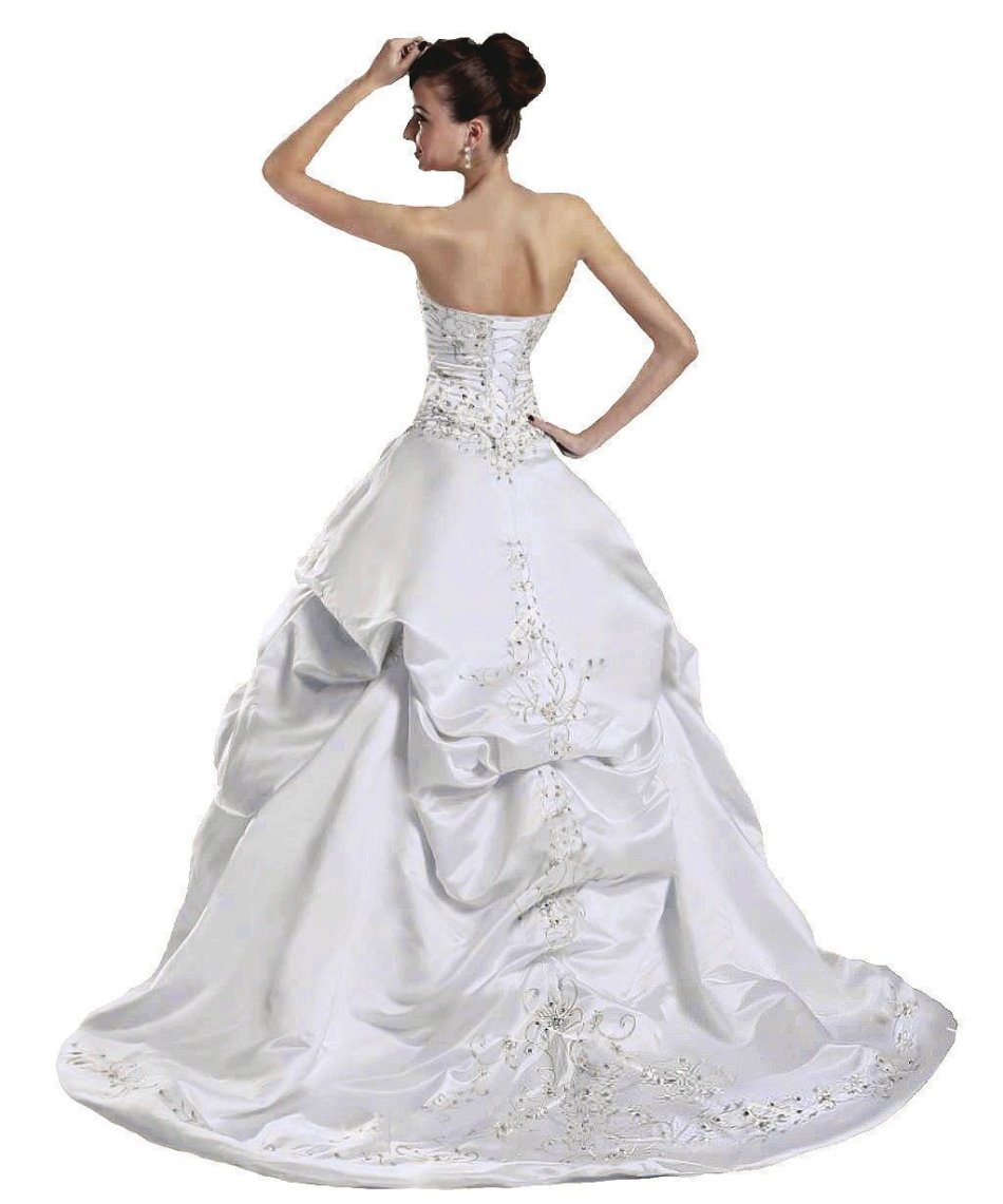 Wedding dresses wedding dresses wedding dress ivory for Ivory satin wedding dress