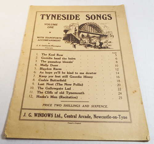 Tyneside songs lyrics