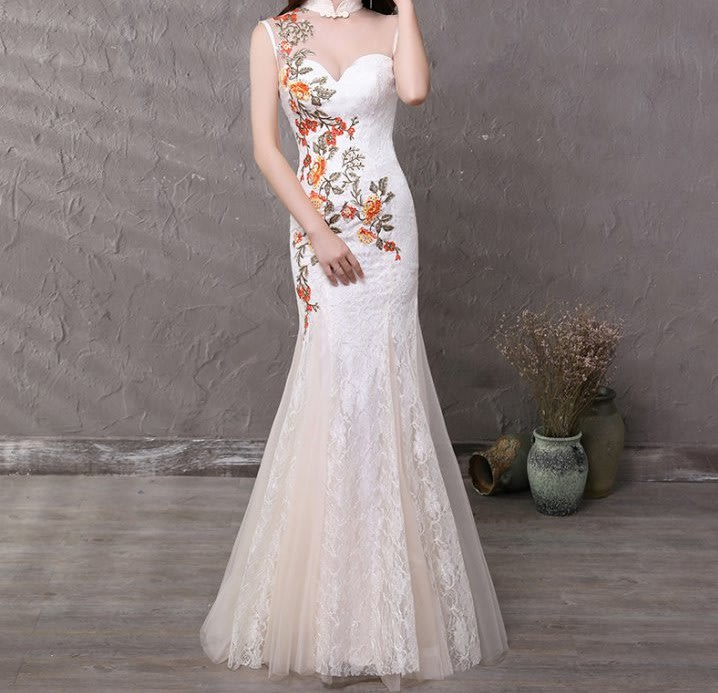 Formal Dresses - Elegant lace white evening dresses was listed for ...