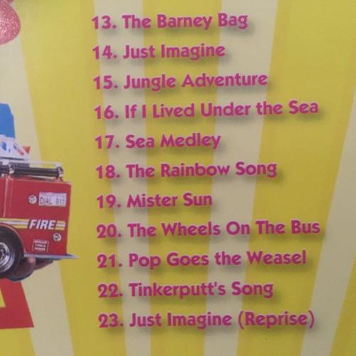 children s music cd barney just imagine was listed for r30 00 on