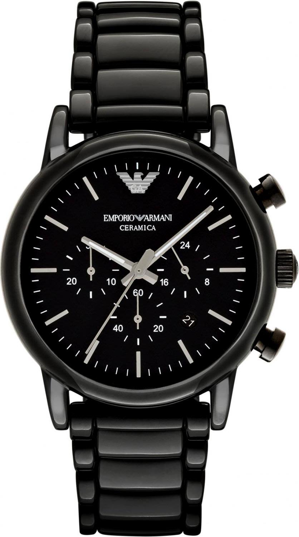 Men 39 s watches emporio armani ar1507 men 39 s ceramica chronograph watch brand new box for Ceramica chronograph