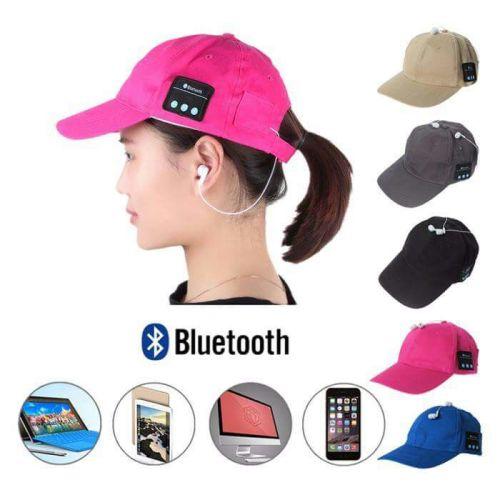 Headsets - Bluetooth Baseball Cap + Earphones Wireless   Unisex was ... fa7a64e53d2