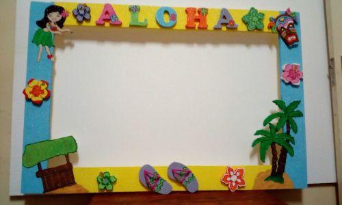 Party Decor - Photo Frame Hawaiian Styrofoam approx 80cm x 100cm was ...