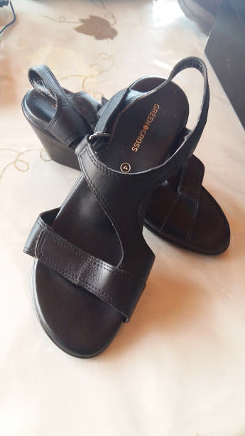 08708494c6ed Sandals - Green cross sandals- black was listed for R480.00 on 10 ...