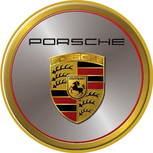 Signage Porsche Logo Round Classic Metal Sign Was Listed For