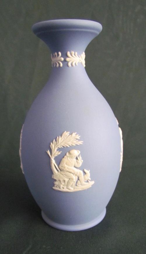 English Porcelain Wedgwood Vaseblue White Jasperwaremade In