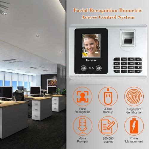 DANMINI Smart Facial Recognition Time Clocks Fingerprint Attendance System