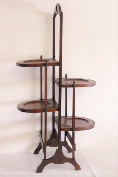 Stands A Stunning Antique Georgian 4 Tier Solid Mahogany
