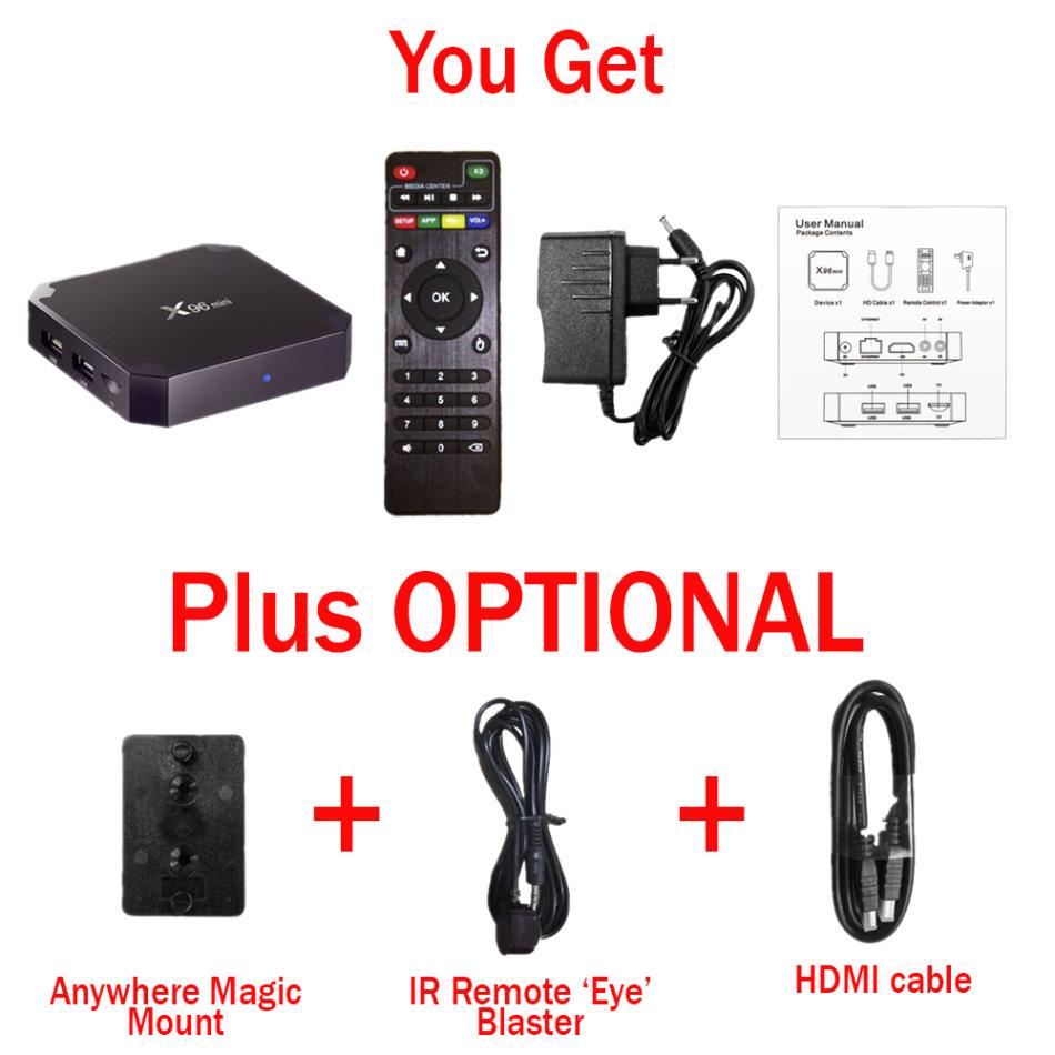 Digital Media Players & Streamers - X96 Mini 1GB/2GB RAM 8GB