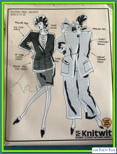 Other Sewing Accessories - KNITWIT - PATTERN 7000 (JACKETS) SIZES 6 ...