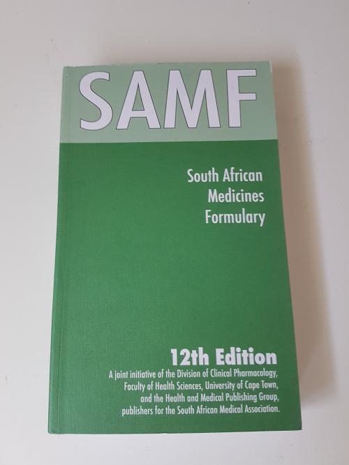 Samf medicine - samf. 12th edition. south african medicines formulary