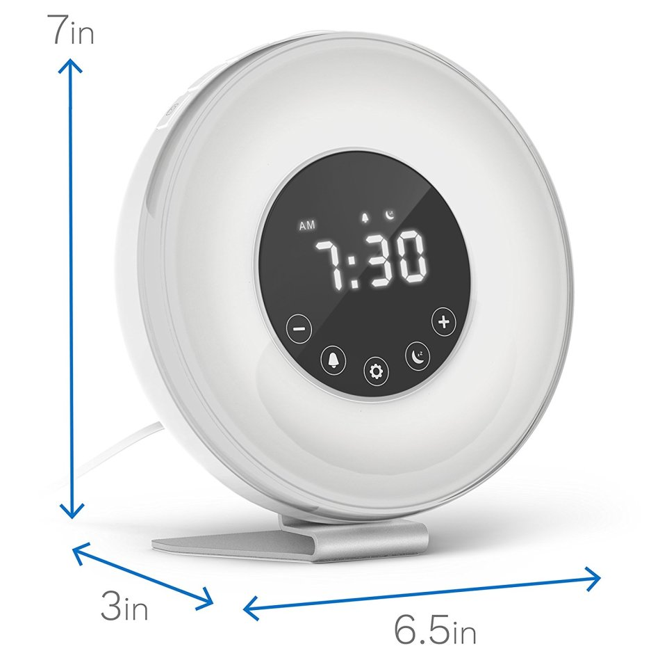 Usb Hubs Sunrise Alarm Clock With 6 Color Switch And Fm