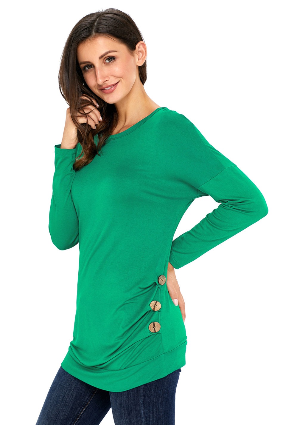 T shirts tops tops top women 39 s top green top tunic top for Women s broadcloth shirts