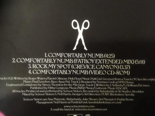 Pop - CD - Scissor Sisters - Comfortably Numb (Single) for