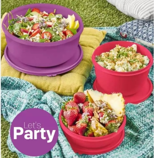 This modular bowl is ideal to store your pancakes,waffles or rotis.They fit perfectly in this attractive bowl.Also ideal to carry your deserts around -the ...