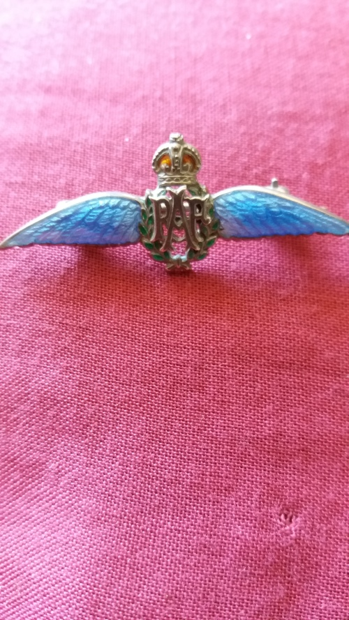 Silver - Vintage Sterling Silver And Enamel RAF Sweetheart