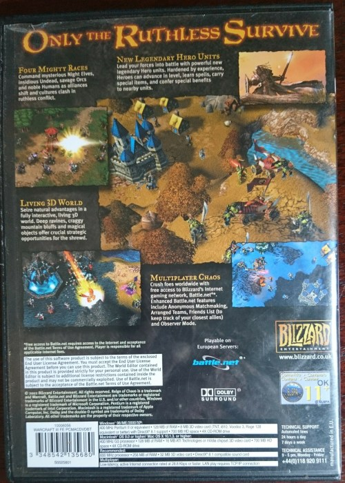Games - Warcraft 3 Reign of Chaos - PC was listed for R80 00