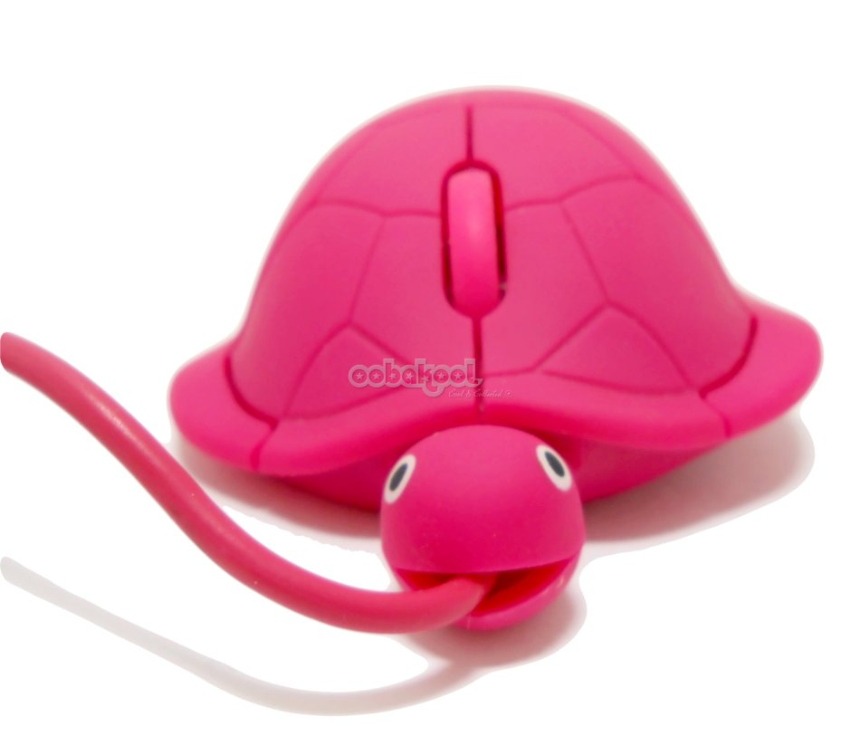 mice pink turtle 3d optical computer mouse limited edition was