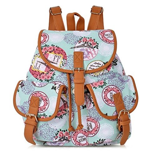 968e3d4a52 Vbiger Canvas Backpack for Women   Girls Boys Casual Book Bag Sports Daypack