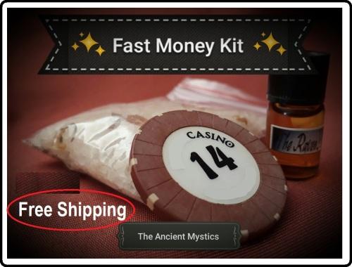 Fast Money Spell Kit FREE SHIPPING Fast MoneyDrawing Magic Luck Prosperity  Abundance Gambling