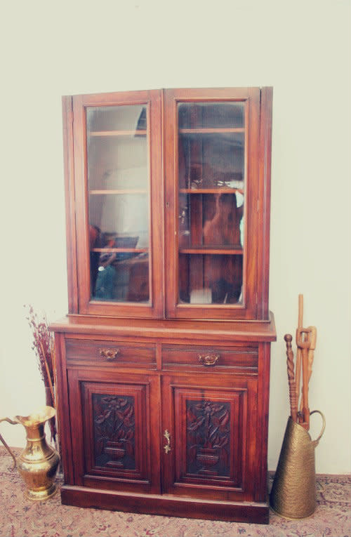Cabinets Rs17 A Beautifully Mahogany Display Cabinet W Double