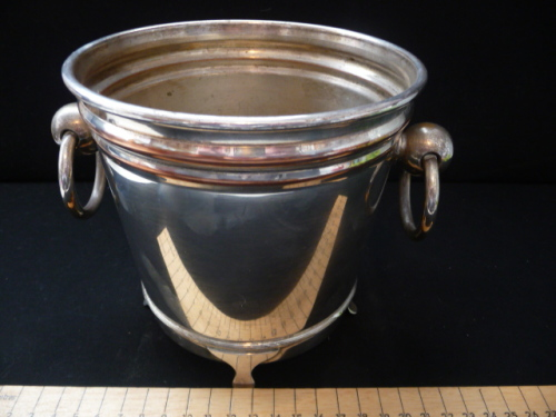 Bar Accessories Vintage Silver Plated Ice Bucket With