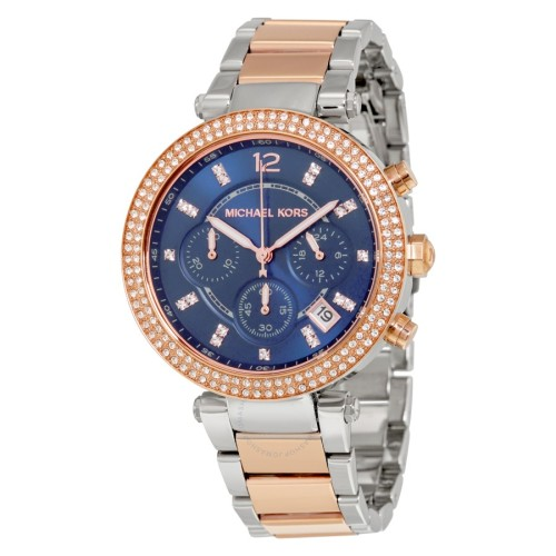 24be4f4fd19 Women s Watches - LADIES MICHAEL KORS PARKER GLITZ BLUE WATCH MK6141 ...