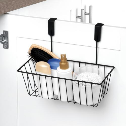 bathroom accessories overdoor storage organiser basket caddy bathroom kitchen accessories was. Black Bedroom Furniture Sets. Home Design Ideas