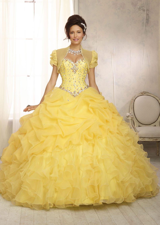 Formal Dresses - BALL GOWN/BALL GOWNS/YELLOW BALL GOWN/DANCE BALL ...