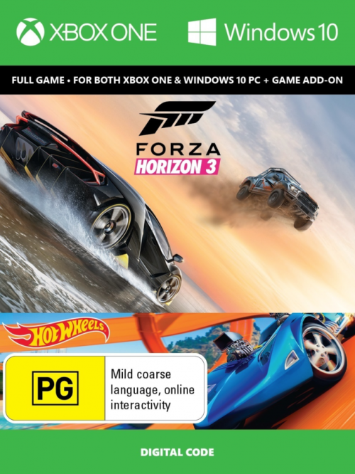 Forza Horizon 3 + Hot Wheels Expansion - Xbox One/PC (Download Code)