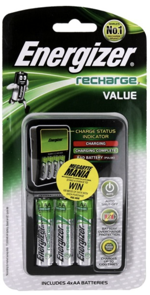 Battery & Charger Combos - Energizer Charger + Battery