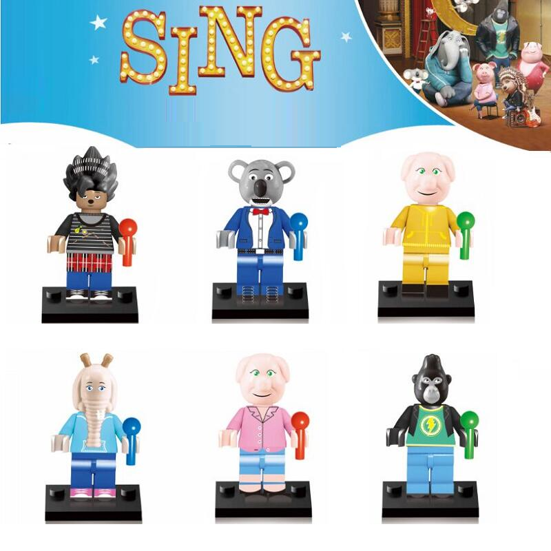 Other Action Figures Lego Compatible Minifigure 6 Piece Set Sing Movie Characters Was Listed For R250 00 On 19 Jul At 08 31 By Superssseller In Outside South Africa Id 420186247
