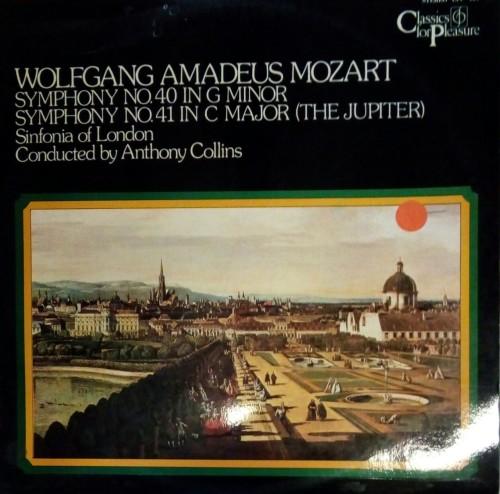Wolfgang Mozart - Symphony No 40 in G Minor & Symphony No 41 in C Major LP  Vinyl Record