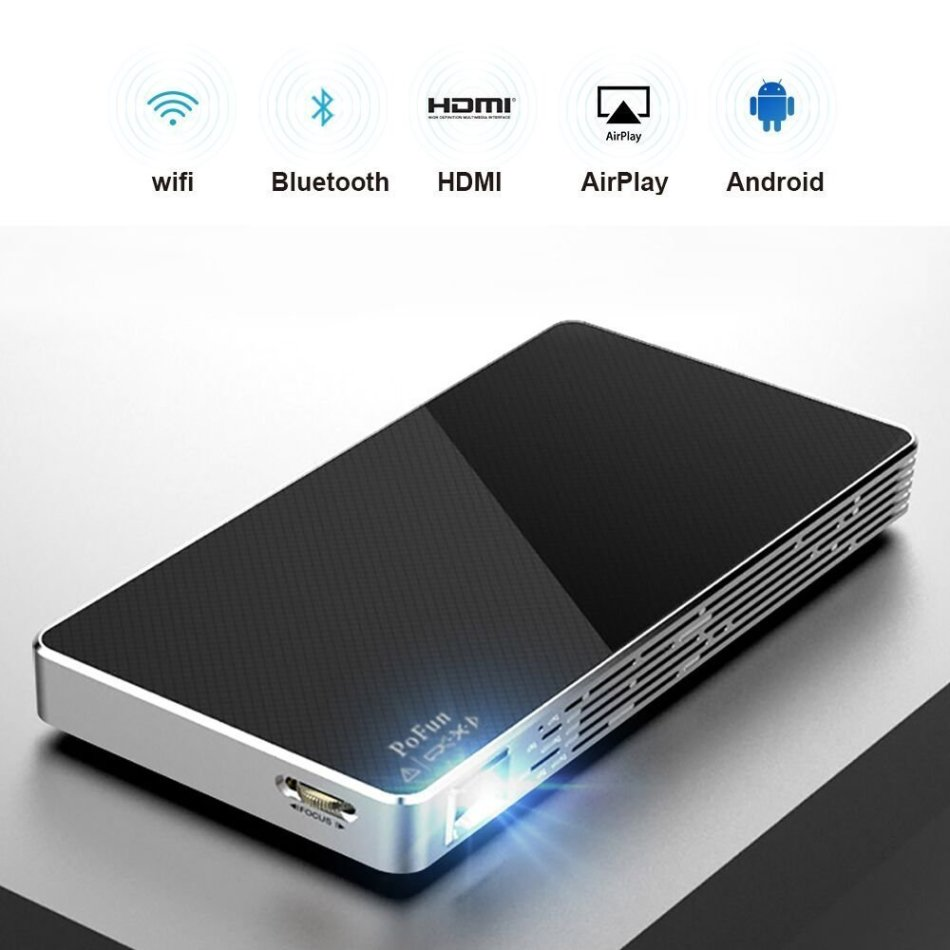 Mini Portable Projector For iPhone, Mobile Projector for Outdoor,Pico HD Video Projector Bluetooth