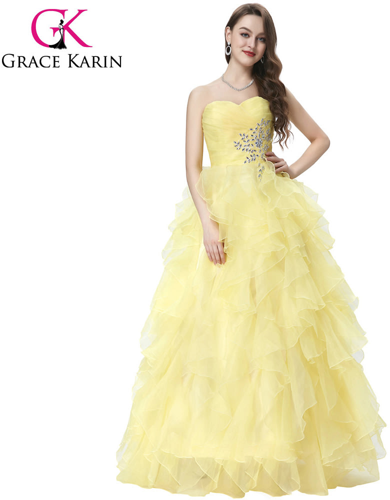 Formal Dresses - BALL GOWNS/BALL GOWN/QUINCEANERA BALL GOWN/YELLOW ...