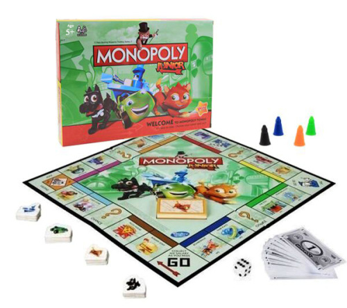 Junior Monopoly Jr Board Game Kids Play