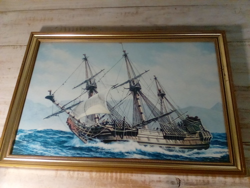 Prints High Definition Print Of Ancient Ship In Solid Frame With