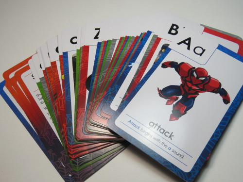 Spiderman Phonics flash cards for 4+ children - 55 Cards