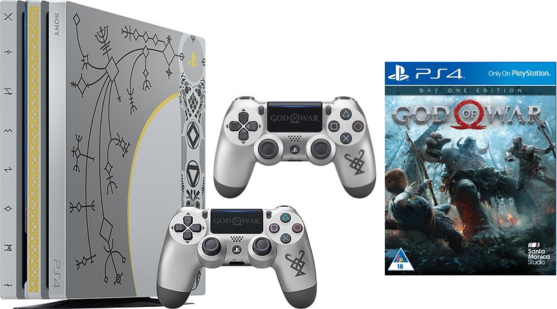 Ps4 Pro God Of War Limited Edition 1tb Console Extra Controller Bundle Brand New Bid To Win