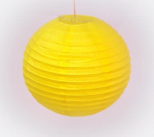 Party decor chinese paper lantern yellow 8 inch 20cm was chinese paper lantern yellow 8 inch 20cm aloadofball Image collections